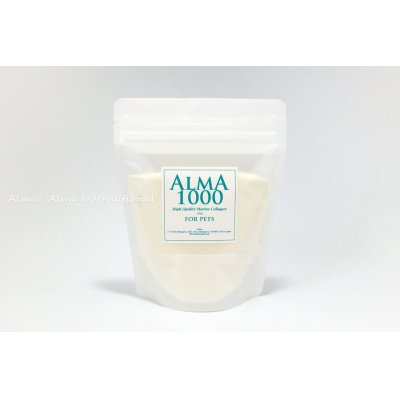 "This ALMA 1000 is the lowest molecular weight collagen powder and has rich ""Non-Essential Amino Acid"" which is needed by animal body...the current dog foods have less ""non-essential amino acid""."